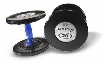 Hampton Gel Grip Urethane Dumbbells 5-lbs. thru 50-lbs.