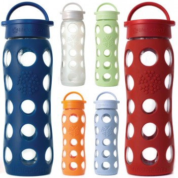 Lifefactory 22oz BPA Free Glass Bottles