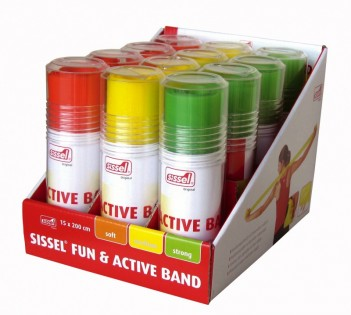 SISSEL® Fun & Active Band, Display, 4 pcs./colour